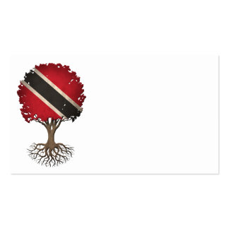 Trinidadian Flag Tree of Life Customizable Double-Sided Standard Business Cards (Pack Of 100)