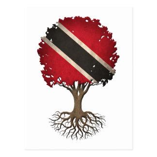 Trinidadian Flag Tree of Life Customizable Postcard