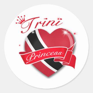 Trinidadian Princess Classic Round Sticker