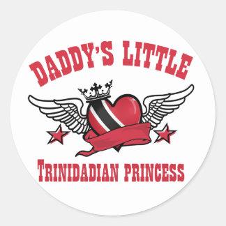 trinidadian princess designs classic round sticker