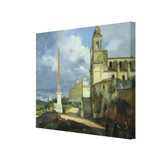 Trinita dei Monti and the Villa Medici Canvas Print