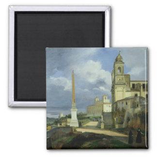 Trinita dei Monti and the Villa Medici Refrigerator Magnet