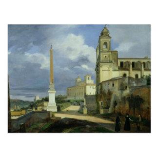 Trinita dei Monti and the Villa Medici Postcard