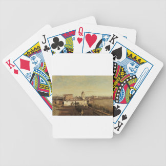 Trinita dei Monti from the Villa Medici by Camille Bicycle Playing Cards