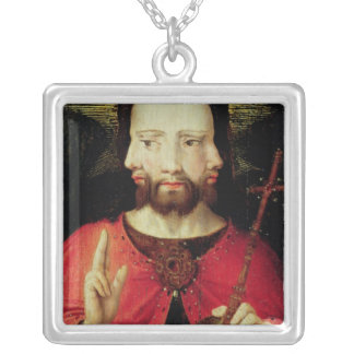 Trinitarian Christ, c.1500 Silver Plated Necklace
