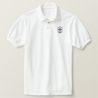Trinitarians coat of arms embroidered polo shirt