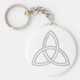 Trinité grise fond blanc keychain