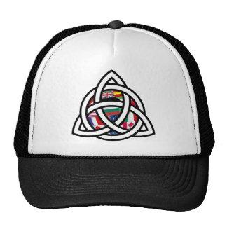 Trinity and Flag Globe Trucker Hat