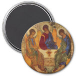 Trinity Angels At Mamre 3 Inch Round Magnet