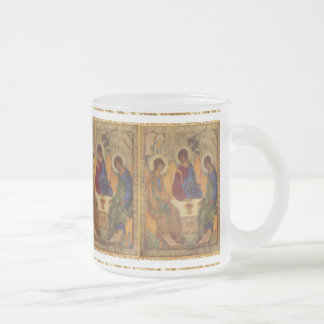 Trinity Angels At Mamre Frosted Glass Coffee Mug