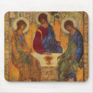 Trinity Angels At Mamre Mouse Pad