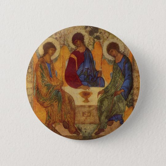 Trinity Angels At Mamre Pinback Button