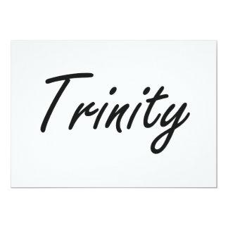 Trinity artistic Name Design 5x7 Paper Invitation Card