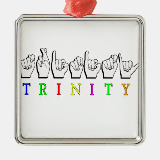 TRINITY  ASL FINGERSPELLED NAME SIGN METAL ORNAMENT
