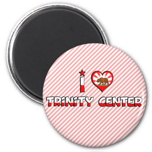 Trinity Center, CA 2 Inch Round Magnet