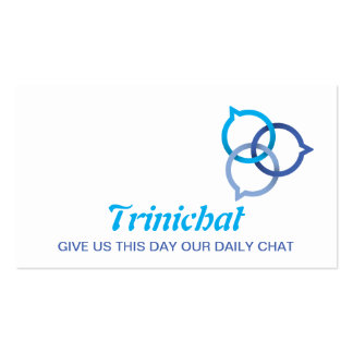 Trinity Chat Bubble Logo (blue's) Business Card