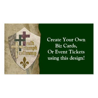 Trinity Christian Shield - Create Your Own Cards Double-Sided Standard Business Cards (Pack Of 100)
