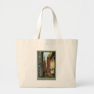 Trinity Church and Wall Street Canvas Bags