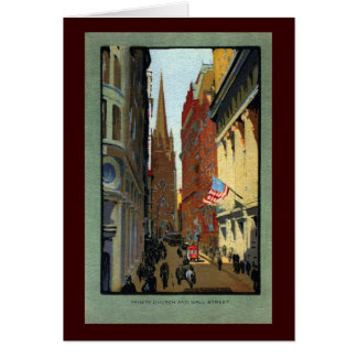Trinity Church and Wall Street Cards