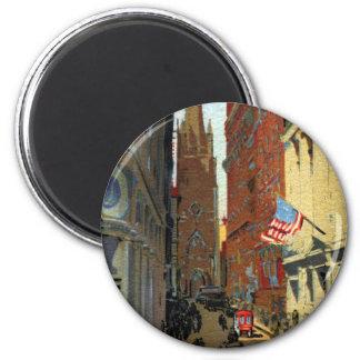 Trinity Church and Wall Street Fridge Magnet