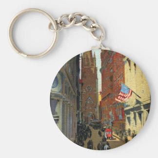 Trinity Church and Wall Street Key Chains
