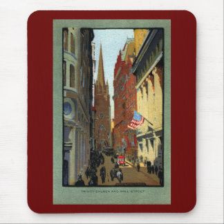 Trinity Church and Wall Street Mouse Pad