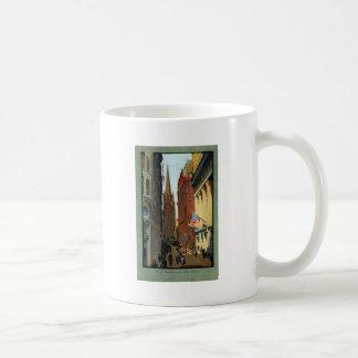 Trinity Church and Wall Street Coffee Mugs
