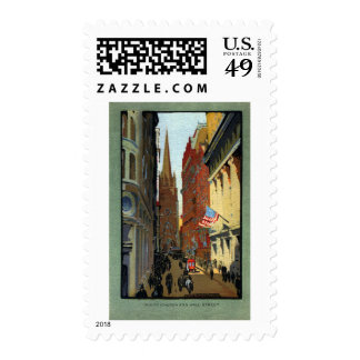 Trinity Church and Wall Street Stamps