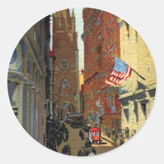 Trinity Church and Wall Street Sticker