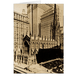 Trinity Church & Church Yard Lower Manhattan NYC Greeting Cards