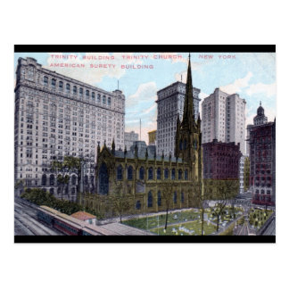 Trinity Church, New York City 1912 Vintage Post Card