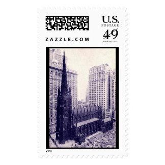 Trinity Church, New York City Vintage Stamp