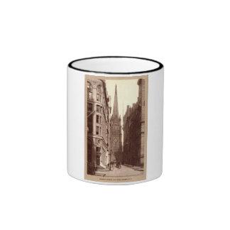 Trinity Church, Wall Street, New York City c1910 V Ringer Coffee Mug