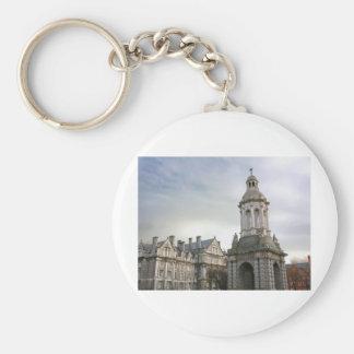 Trinity College Dublin Basic Round Button Keychain