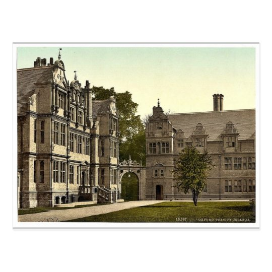 Trinity College, Oxford, England rare Photochrom Postcard