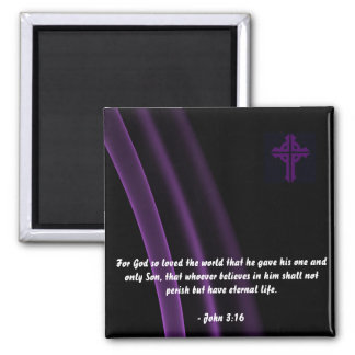 Trinity Cross Magnet John 3:16