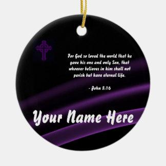 Trinity Cross Ornament John 3:16