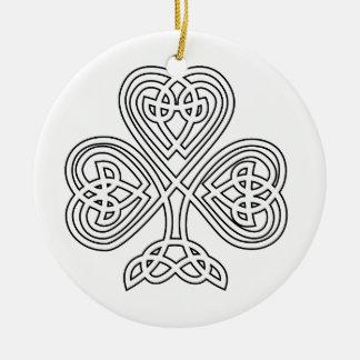 Trinity Design Shamrock Ceramic Ornament