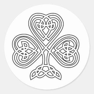 Trinity Design Shamrock Classic Round Sticker