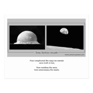TRINITY / EARTHRISE: two paths Post Card