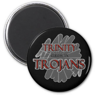 Trinity High School Trojans - Euless, TX 2 Inch Round Magnet