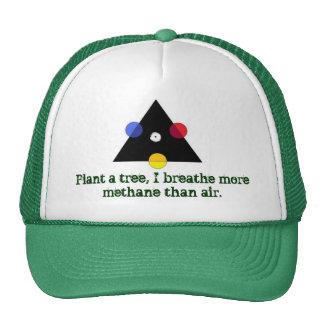 Trinity is green. mesh hats