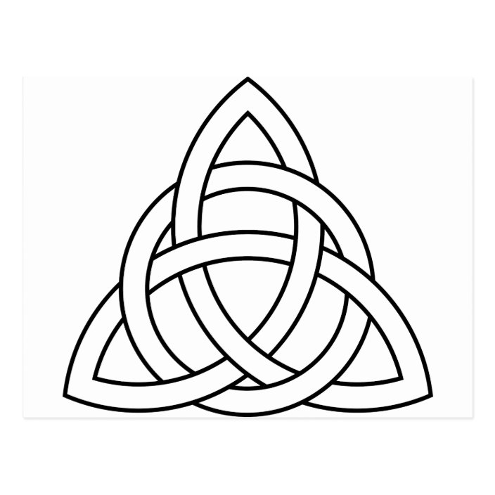 Trinity Knot Celtic Saxon Viking Norse Nordic Postcard Zazzle Com