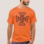 Trinity knots in a cross T-Shirt