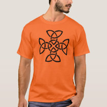 Trinity knots in a cross T-Shirt