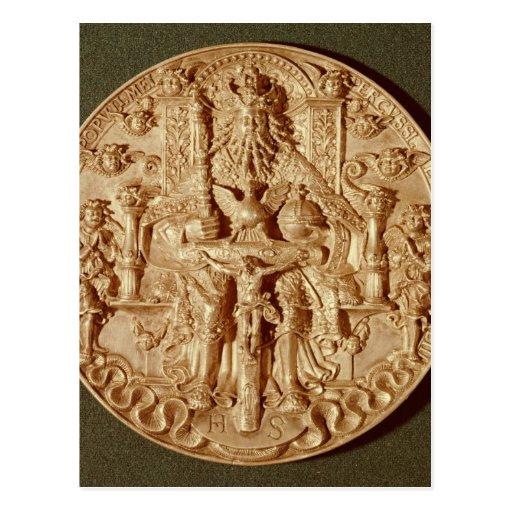 Trinity medal, recast version of original post card