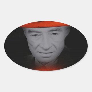 Trinity Robert Oppenheimer Oval Sticker