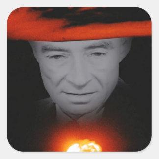 Trinity Robert Oppenheimer Square Sticker