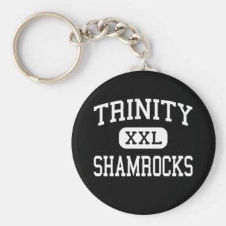 Trinity - Shamrocks - High - Louisville Kentucky Basic Round Button Keychain