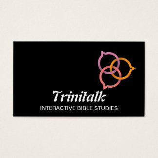 Trinity Speech Bubble Logo (pink, coral, orange) Business Card